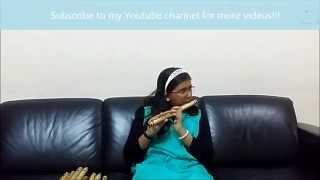 Malayalam Nostalgic song Ambalapuzhe Unni Kannanodu Nee on Flute by Malavika Harish