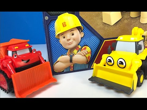 BOB THE BUILDER COLLECTION MASH AND MOLD CONSTRUCTION SET SCOOP MUCK ROLLY TALKING LOFTY  TINY