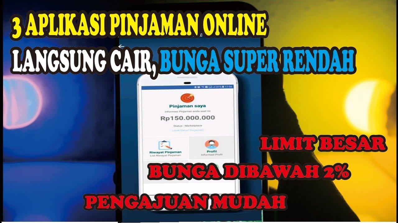 3 Aplikasi Pinjaman Online Langsung Cair Bunga Super Rendah Youtube