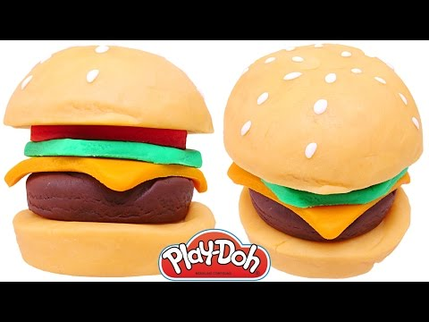 Hamburguesa Play Doh DIY McDonalds Comida de Plastilina 🍔 Como Hacer una Hamburguesa