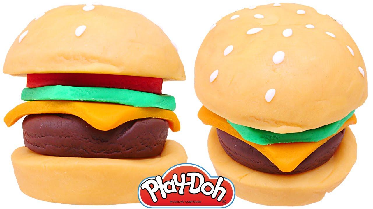 Hamburguesa Play Doh DIY McDonalds Comida de Plastilina  Como