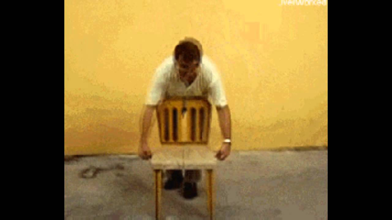 Folding Chair Gif Guy Hanging Sams Club Cool Fold Up Youtube