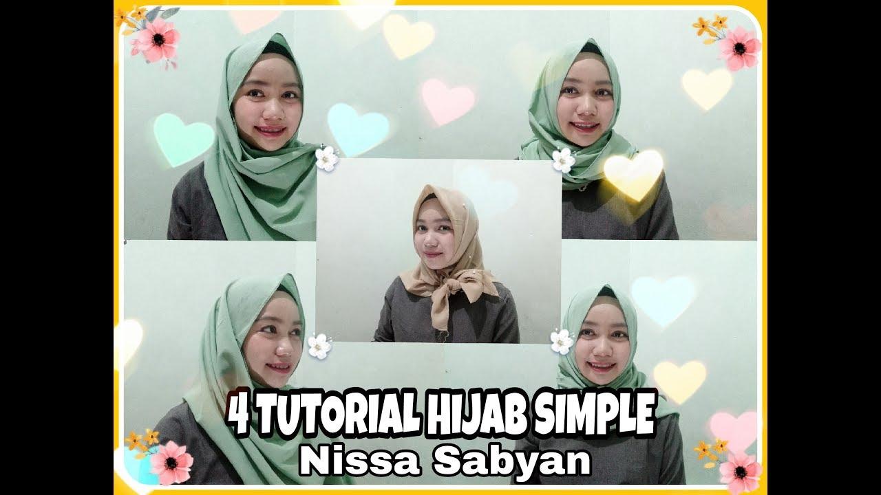 4 tutorial hijab ala nissa sabyan || simple & nyaman #hijab nissa
