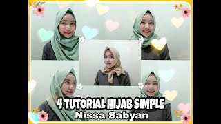 4 TUTORIAL hijab ala NISSA SABYAN || SIMPLE & NYAMAN #hijab Nissa Sabyan