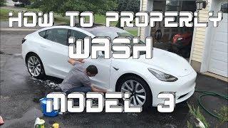 [TESLA] How to wash a Tesla Model 3 the proper way