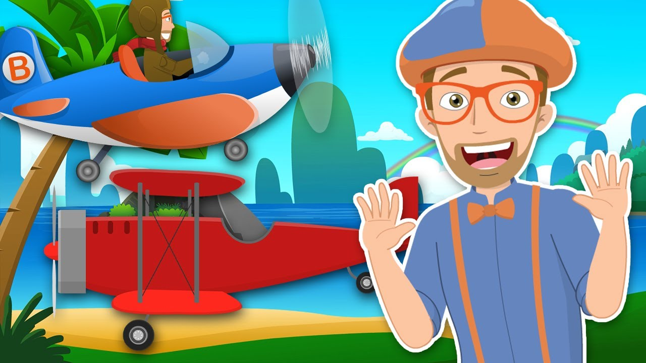 Blippi - Airplane Song! | +More Baby Songs & Nursery Rhymes | Educational Videos for Toddlers
