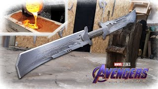 Making THANOS NEW Sword From Avengers: Endgame REVEALED? (Aluminum Casting)