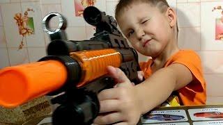 АВТОМАТ. ОБЗОР ОРУЖИЕ ДЛЯ ДЕТЕЙ. КАК ИГРАТЬ В СТРЕЛЯЛКИ. / SHOOTING FROM GUN. LOL
