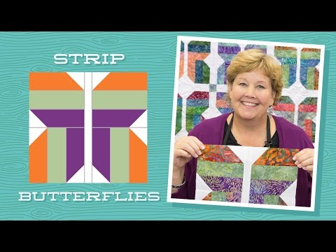 Make An Easy Strip Butterflies Quilt With Jenny Doan Of Missouri Star!
