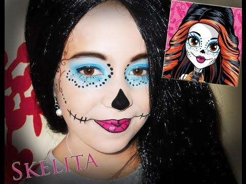maquillage squelette born this way