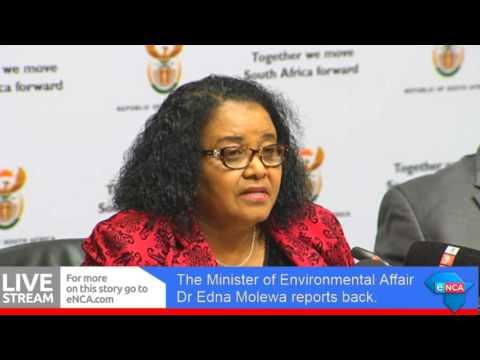 Dr Edna Molewa reports back