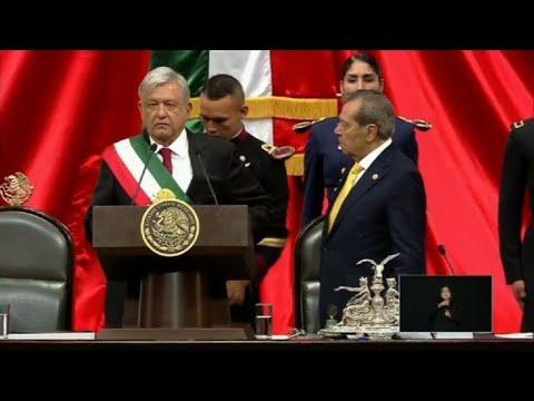 Leftist Lopez Obrador sworn in as Mexico president