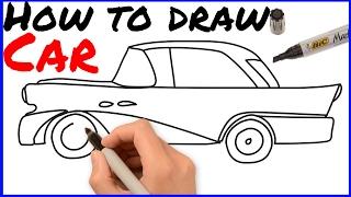 How to draw stylish car in just 1 min ||Very easy draw step by step |  如何画车 | Cómo dibujar coche😍😍