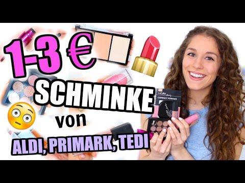 Ich teste 1-3€ SCHMINKE von ALDI, PRIMARK, TEDI ♡ BarbieLovesLipsticks