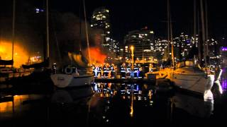 40 Foot Yacht on Fire at Burrard Civic Marina