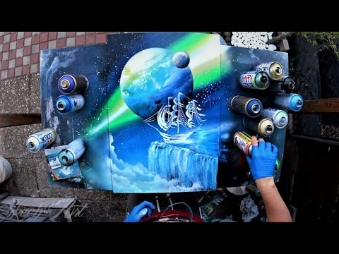 Edge Of The World Spray Paint Art By Skech Youtube