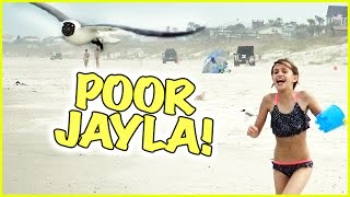 jayla gets a bucket of water tossed on her it s spring break vlogmania smelly belly tv