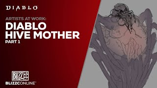 BlizzConline 2021 - Artists at Work: Diablo Hive Mother Part 1