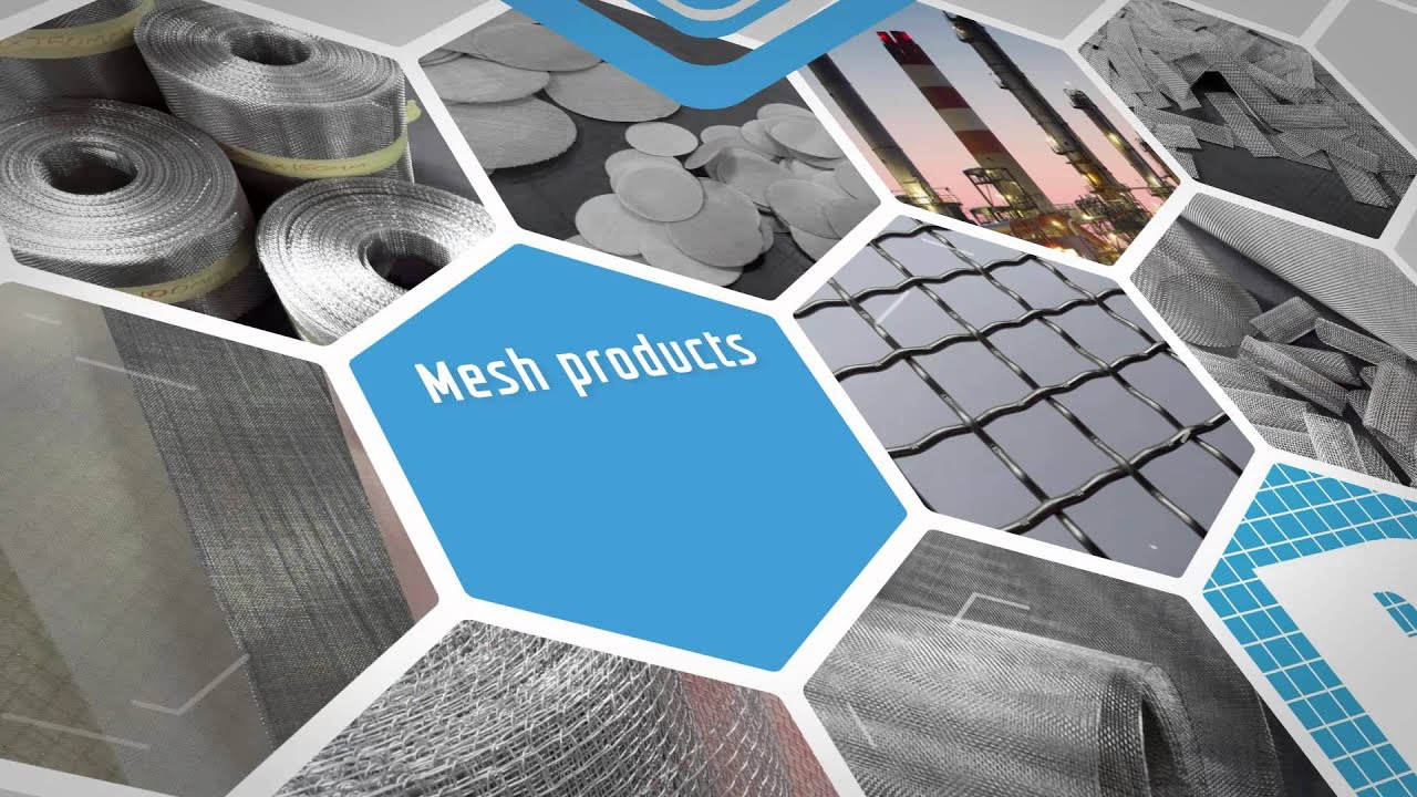 Stainless steel woven wire mesh - YouTube