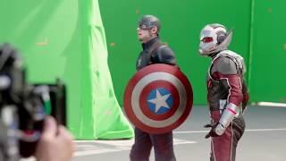 Captain America Civil War Behind the Scenes Movie Scarlett Johansson, Chris Evans