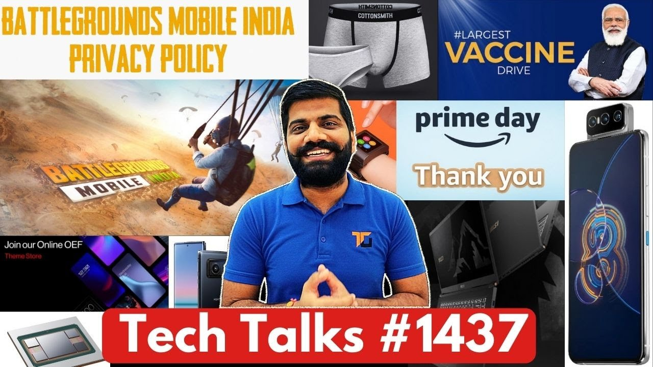 Tech Talks #1437 - Battlegrounds Mobile India Privacy, Mi Underwear, CoWIN 4 Code, Qualcomm Flaw