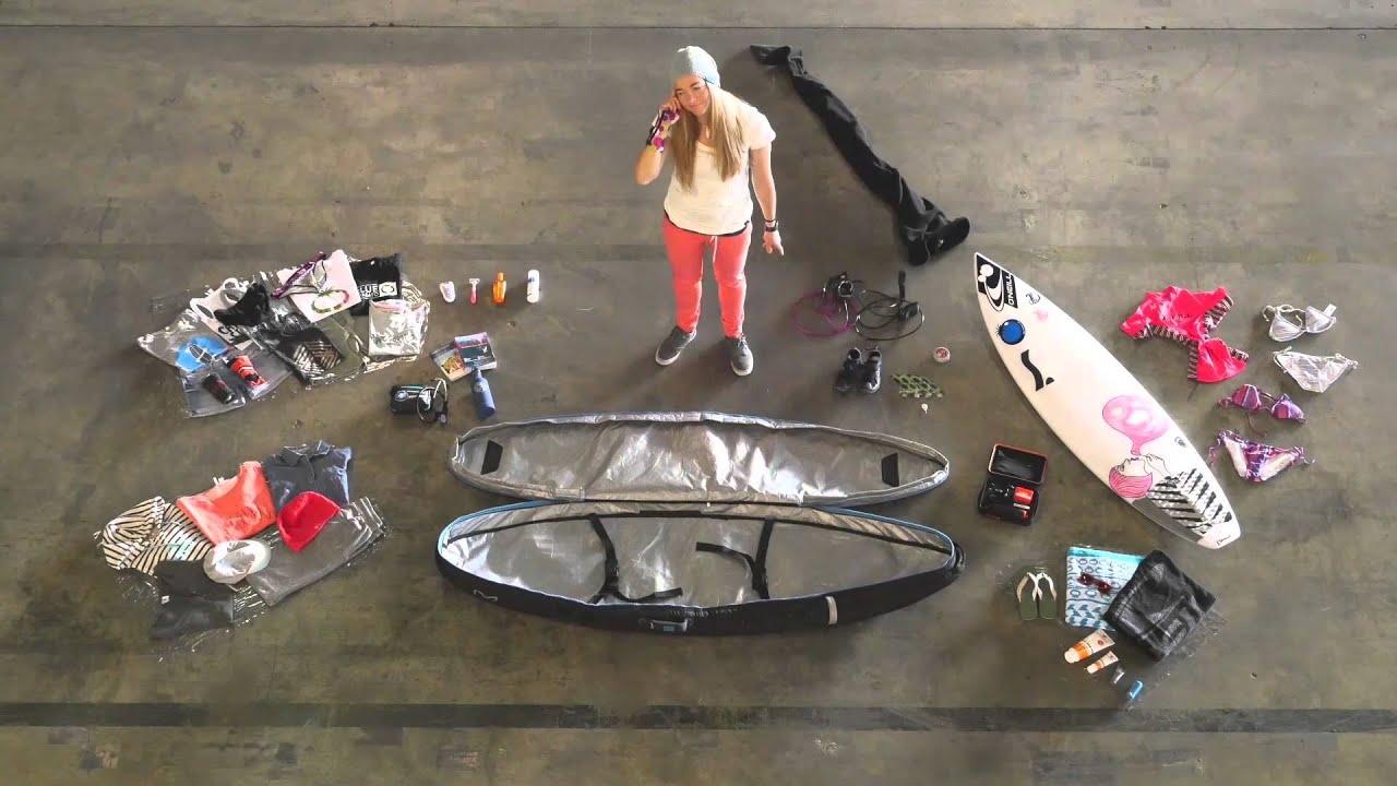 Image result for Surfer's board bag packing