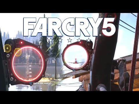 Far Cry 5   long range shots with bow and slingshot (stealth, Rpg shots)