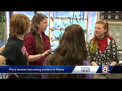 More Maine girls joining high school program to become welders