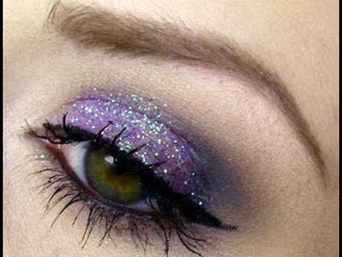 Purple Glitter Makeup & Cherry Culture Haul - YouTube