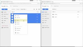 Transfer files from one Google Drive account to another , without download or upload