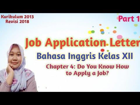 Materi Bahasa Inggris Kelas 12 Chapter 4 Job Application Letter Definisi Fungsi Layout Part 1 Youtube