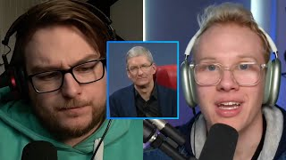 Tim Cook get angry after reporter questions him...