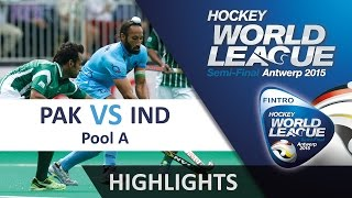 pakistan v india match highlights antwerp men s hwl 2015