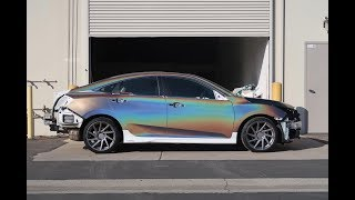 Vinyl Wrapping The New Turbo Civic In 3m Psychedelic