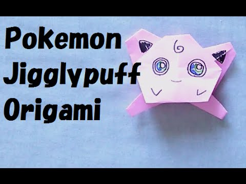 Pokemon rosa Jigglypuff... origami 3D ポケモン チュートリアル ...   360x480