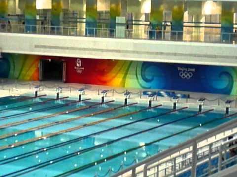 Piscine olympique p kin beijing youtube for Dimension piscine olympique
