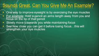 Eye Exercises To Improve Vison (Part 1)