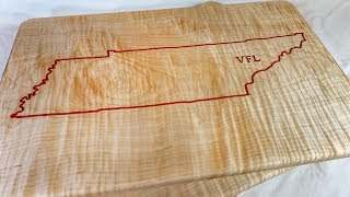 Cutting Board with Epoxy Inlay - University of Tennessee