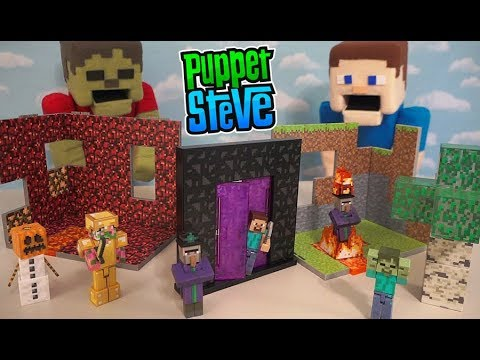 Minecraft Overworld Biome Playsets Action Figure Nether Birch Forest Exclusive Jazwares Unboxing