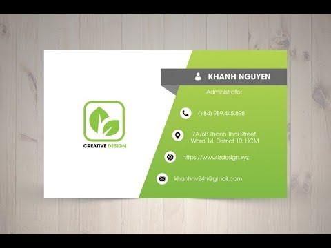 Thiết kế name card visit |  How to design Business Card Template using adobe photoshop CC