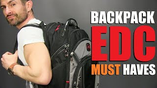 10 Backpack EDC Items ALL Men MUST Have!