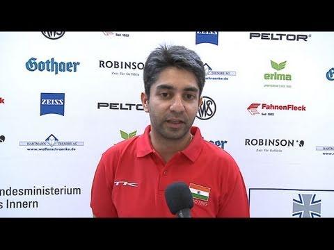 Abhinav Bindra (IND) Interview -  World Cup Series 2011, Rifle & Pistol Stage 6, Munich (GER)
