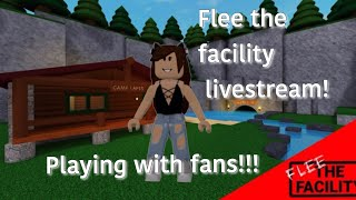 Playing Flee The Facility With Fans  Roblox 😱🔴🐺