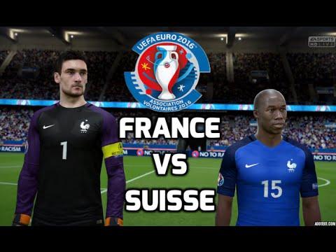 [HD] France vs Suisse Euro 2016 #03 Match de Poule Fifa 16 FR 1080p60