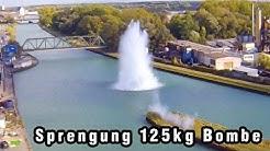 Sprengung 125kg Bombe - Münster  - Dortmund Ems Kanal - Aerial Bomb Disposal