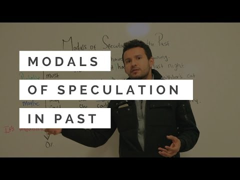 Modals of Speculation/Deduction in Past