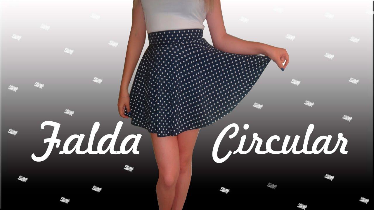 Falda Circular 2.0 (Sin maquina de coser) - Mapo ♥ - YouTube