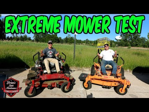 EXTREME Mower Testing!! SCAG Vs EXMARK ► Scag Turf Tiger 2 Vs Exmark Lazer Z X-Series ► Who Will Win