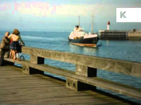 1950s Dieppe, France, Port, 16mm Colour Home Movie Footage