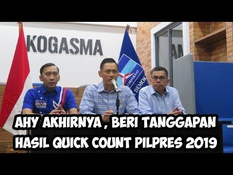 Putra SBY, AHY Akhirnya Muncul, Beri Tanggapan Hasil Quick Count Pilpres 2019 Jokowi Dan Prabowo